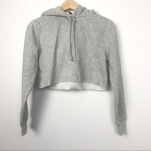 2 for 25 H&M crop hoodie size 4 grey